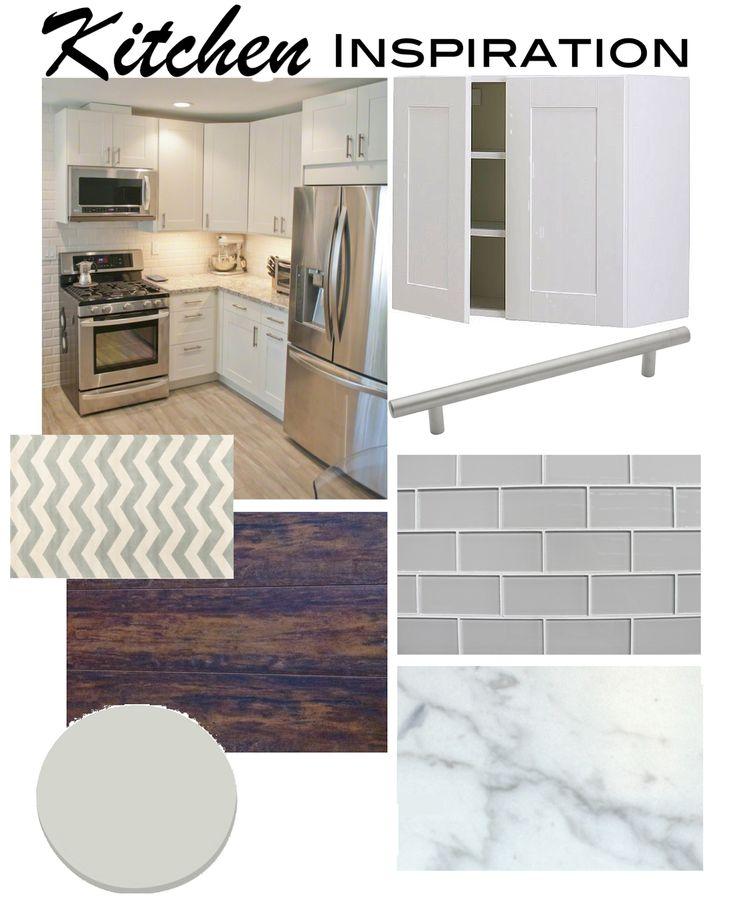 "Kitchen Inspiration ""Idea Board"" #subwaytile #adelecabinets #ikea"