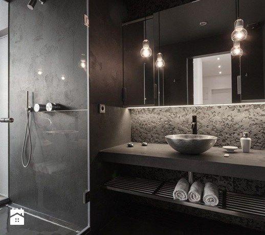 Aranżacje wnętrz - Łazienka: Ciemna strona łazienki - wersja tylko dla odważnych? - Średnia łazienka w bloku w domu jednorodzinnym bez okna, styl industrialny - MartaWieclawDesign. Przeglądaj, dodawaj i zapisuj najlepsze zdjęcia, pomysły i inspiracje designerskie. W bazie mamy już prawie milion fotografii!