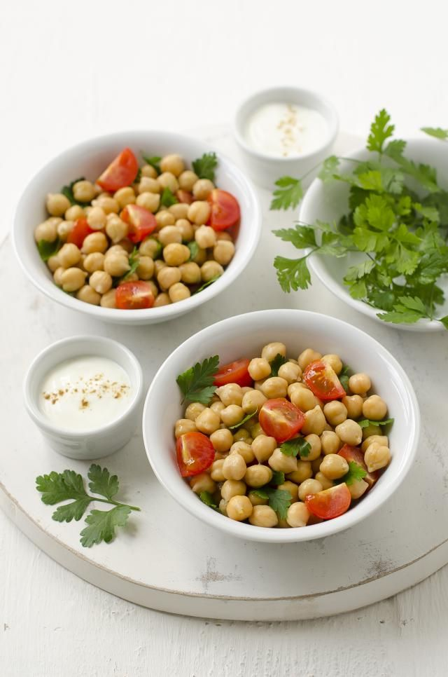 A recipe for an Italian-inspired salad made with chickpeas, tuna, capers, tomatoes and watercress.