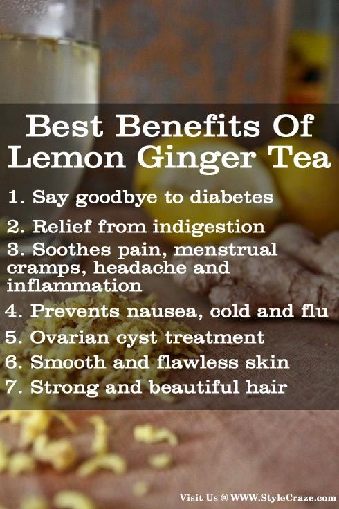 7 Best Benefits Of Lemon Ginger Tea. http://omnivorus.com/