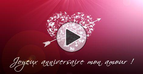Joyeux anniversaire mon amour - Joliecarte.com