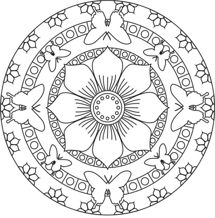 flower coloring pagesgif 14001416 - Art Therapy Coloring Pages Mandala
