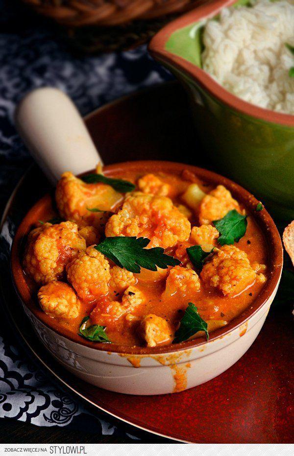 Curry pomidorowo- kokosowe z kalafiora i indyka 6- 8 po…