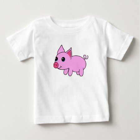 Cute Pink Cartoon Pig Baby T-Shirt - tap, personalize, buy right now!
