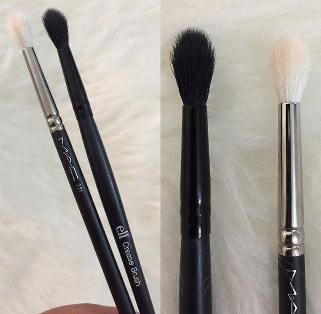 Elf crease brush dupe MAC blending brush