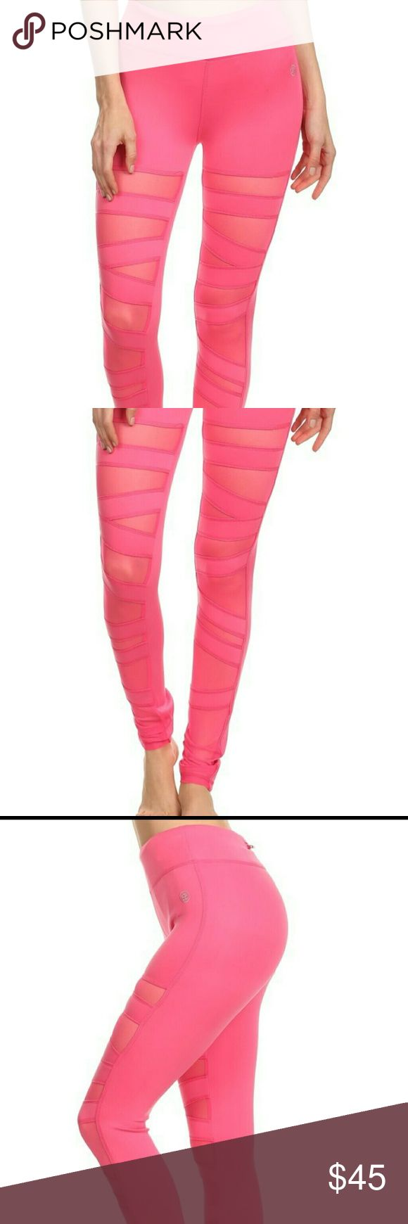 New pink Ballerina workout yoga leggings Awesome NEW pink Ballerina style workout leggings, with four way stretch, wicking, and flat seems for extra comfort.  Perfect for the gym, yoga, running , weight lifting or every day wear! sizes available S, M, L , XL . leggings run two sizes smaller. Pants Leggings