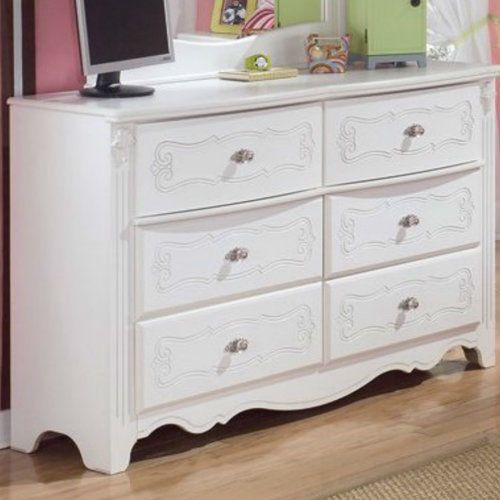 Dressers-For-Girls-Shabby-Chic-White-Bedroom-Storage-6-Drawer-Furniture-Chest