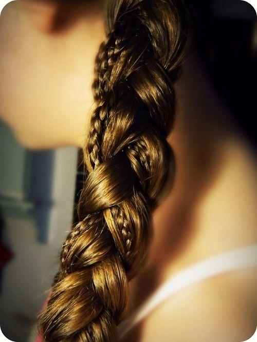 braid in a braid, cute idea.: Small Braids, Hair Ideas, Big Braids, Makeup, Long Hair, Longhair, Hairstyle, Hair Style, Braids Hair