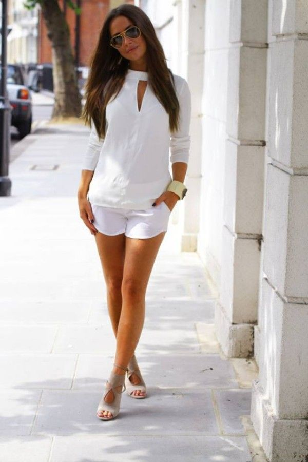 -pure white, little leg goes a long way: 34 Fashion Street Style