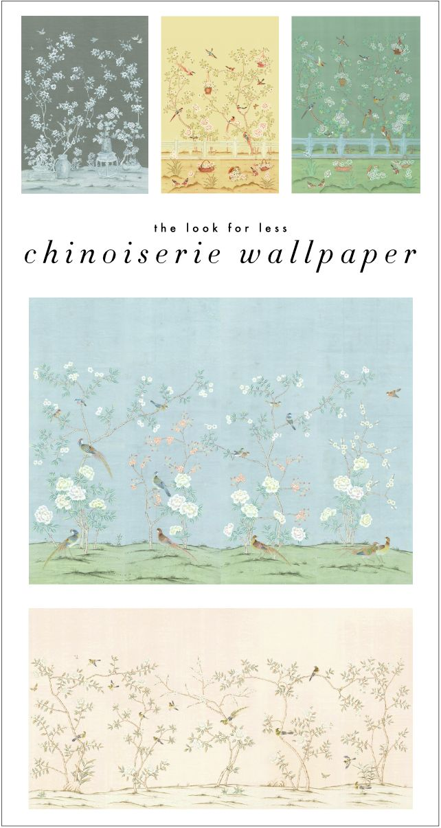 Kelly Market: THE LOOK FOR LESS: CHINOISERIE WALLPAPER
