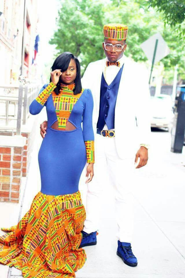 Royal Blue Suit With Kente Print For Toddler Google
