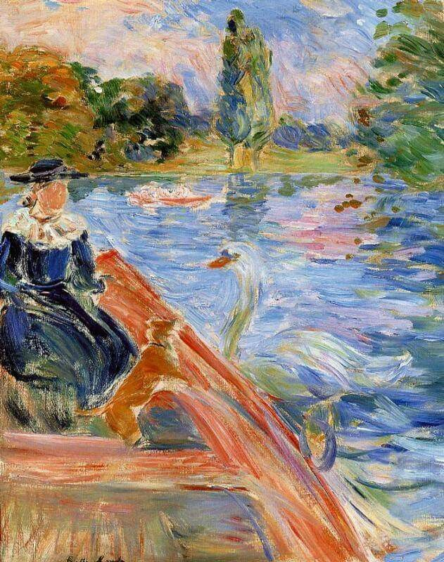 Berthe Morisot  Boating On The Lake 1892. oil on canvas