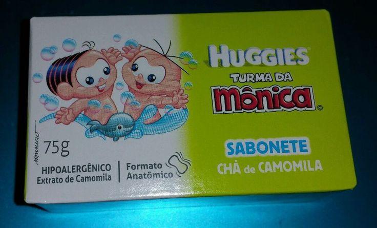 Huggies Baby Soap Made in Brazil Turma da Monica Cha de Camomila #Huggies