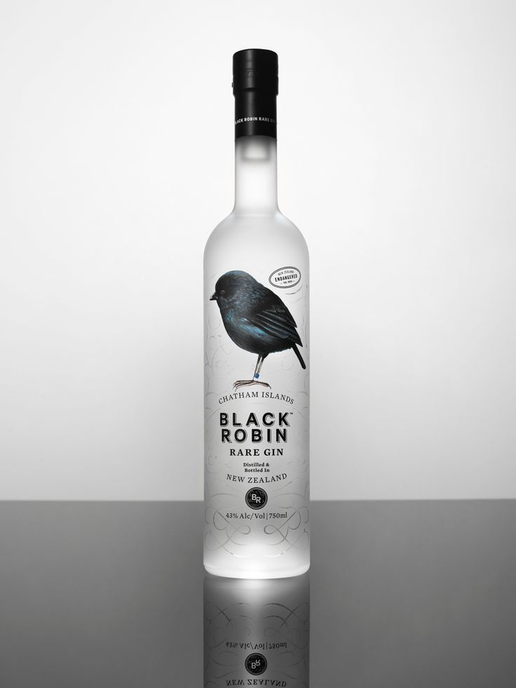 BLACK ROBIN rare gin by Studio South