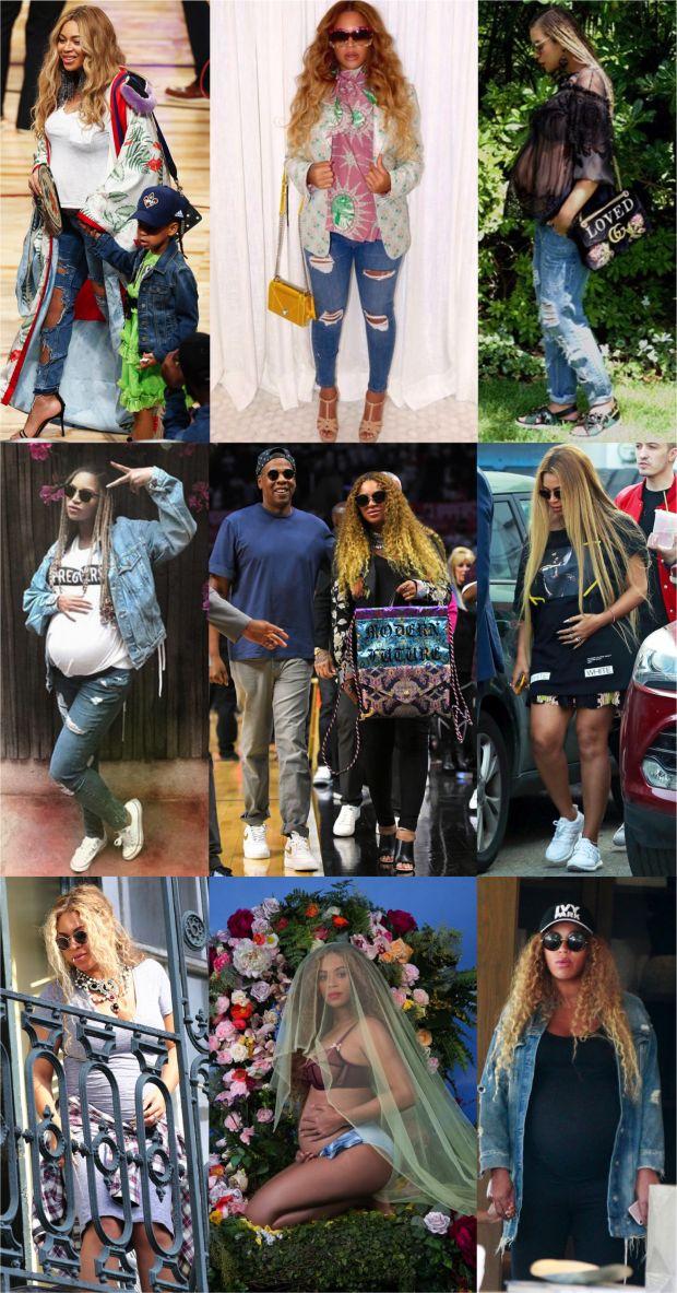 24 Looks da Beyoncé grávida de gêmeos!