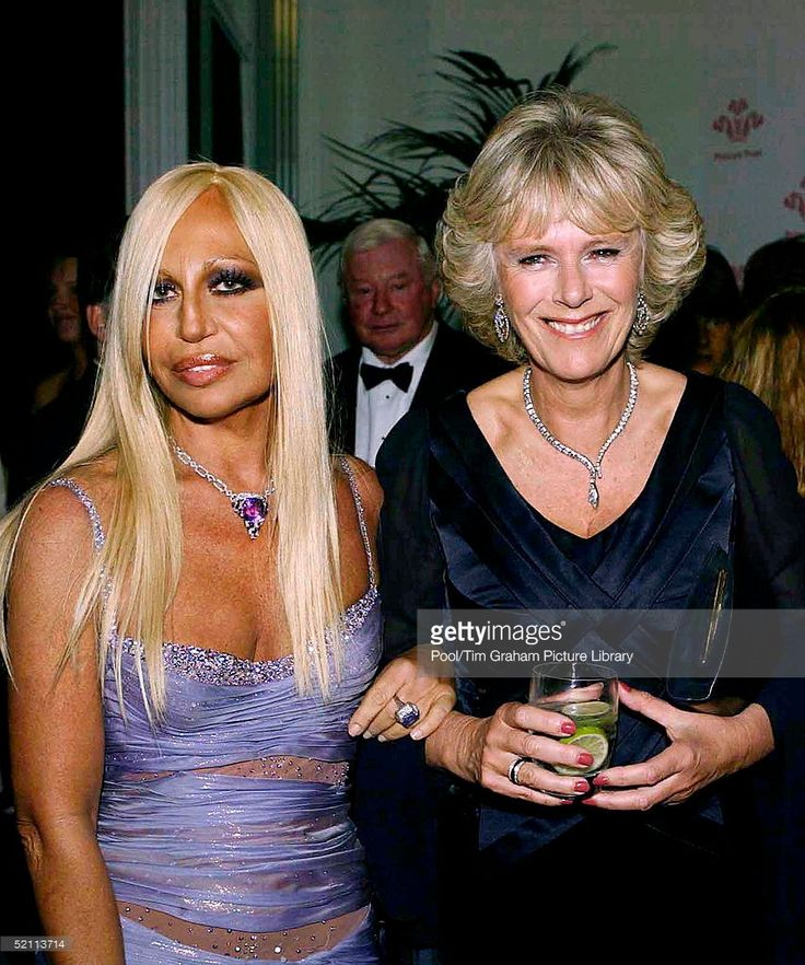 Royals And Celebrities Attend 'fashion Rocks', A Concert And Fashion Show In Aid Of The Princes' Trust Charity At The Royal Albert Hall. Camilla Parker-bowles Arm-in-arm With Designer Donatella Versace. Mrs Parker-bowles Is Wearing A Dress Said To Be Designed By Robinson Valentine.