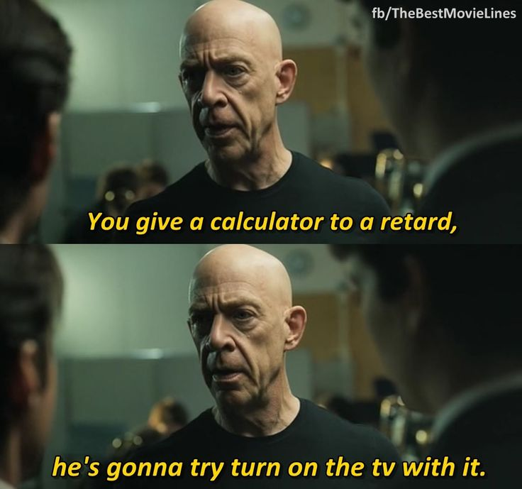 """Whiplash"" (2014). J. K. Simmons' character is simultaneously terrifying and hilarious."