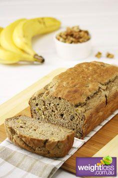 Healthy Cakes Recipes: Gluten Free Banana Bread. #HealthyRecipes #DietRecipes #WeightlossRecipes weightloss.com.au