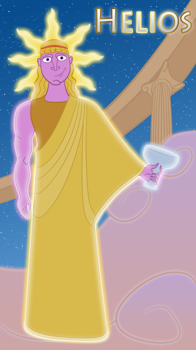 *HELIOS ~ the ancient sun god, son of the Titans Hyperion and Tea, driving a chariot across the sky each day until the ocean that surrounds the earth and returned by him to the east at night. It was very similar to the God of Light, Apollo.