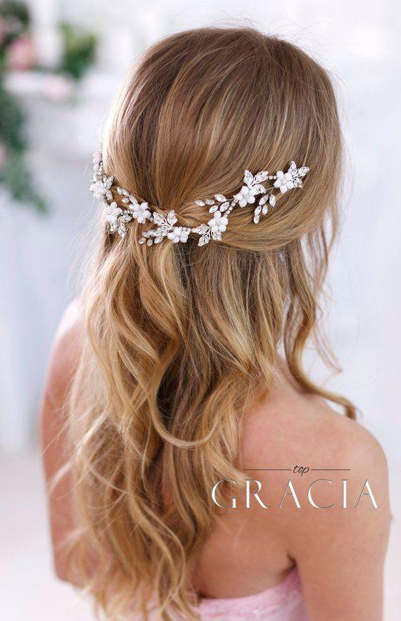 Crystal Headband Bridal Hair Flowers Bridal Hair Jewelry Wedding