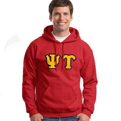 Psi Upsilon Hooded Sweatshirt - Gildan 18500 - TWILL