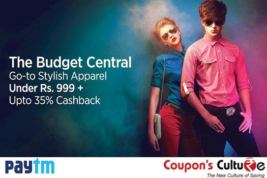 Go-to Stylish ‪#‎Apparel‬ Under 999 + Upto 35% ‪#‎Cashback‬. ‪#‎Shop‬ Now