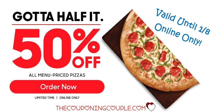 Get an easy and cheap dinner when All Menu-Priced Pizzas are 50% Off @ Pizza Hut until 1/8/18! I know what will be for supper one night this week :)  Click the link below to get all of the details ► http://www.thecouponingcouple.com/pizza-hut/ #Coupons #Couponing #CouponCommunity  Visit us at http://www.thecouponingcouple.com for more great posts!
