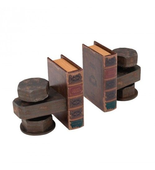 S_2 WOODEN_PU BOOKEND W_POLYRESIN DETAILS 40(20)Χ14Χ18