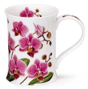 ** Hrníček na kávu - malovaný porcelán, orchidea **