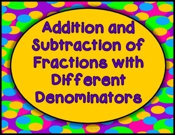 how to add fractions with unlike denominators for kids