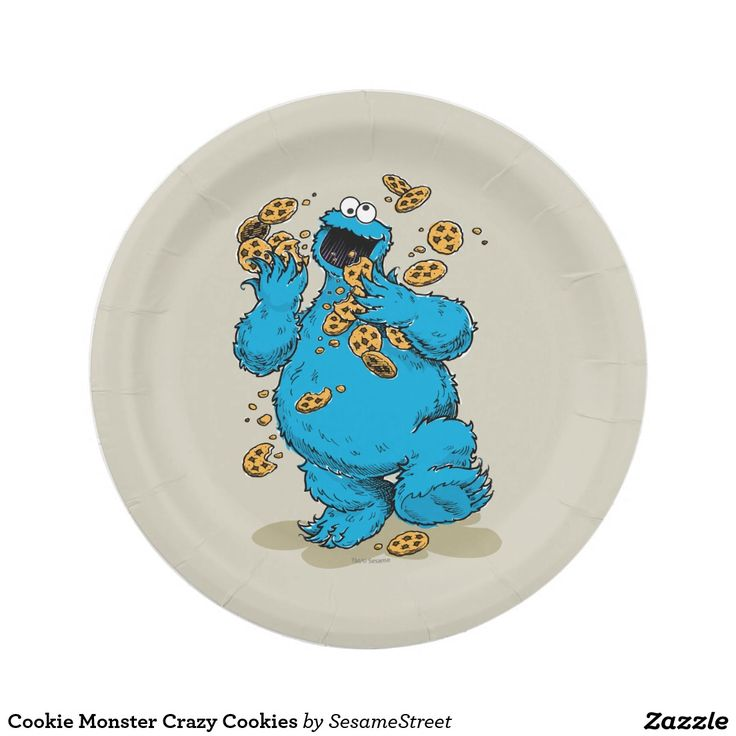 Cookie Monster Crazy Cookies Paper Plate  sc 1 st  Pinterest & 1002 best CUSTOM PAPER PLATES Personalized For Parties images on ...