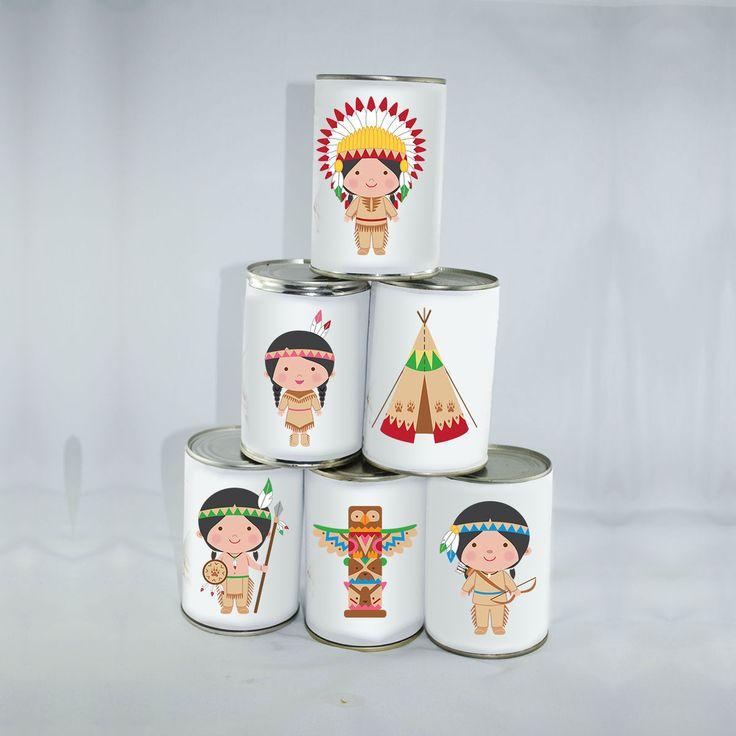 6 Petites Étiquettes Indiens Chamboule-tout : Jeux, jouets par creerpourvous
