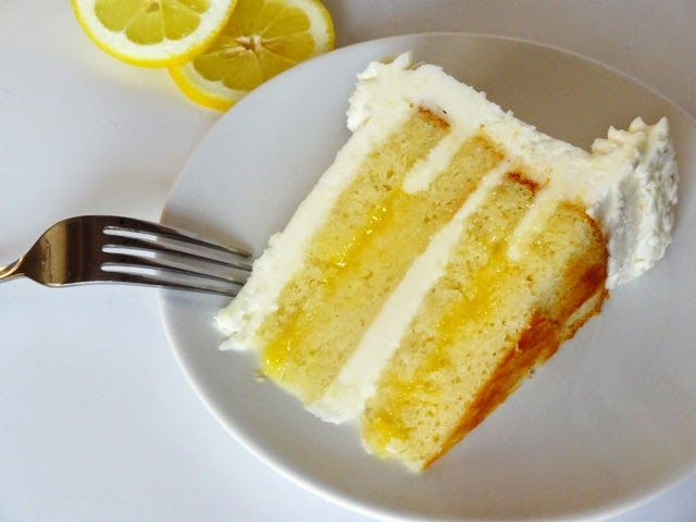 Triple Lemon Cake ~ his cake was amazing, I used cream instead of water in the frosting, I also reduced the amount of sugar in the frosting.