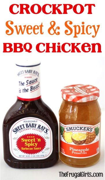Crockpot Sweet and Spicy BBQ Chicken Recipe! ~ from TheFrugalGirls.com ~ this de…