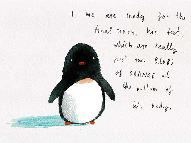 How to Draw a Pengiun by Oliver Jeffers