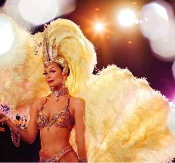 Yellow Feathered Showgirl -You know you're big-time, when you've been pinned on pinterest!