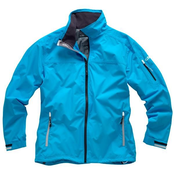 The Gill Mens Crew Jacket is a great all-rounder waterproof breathable jacket performing on board and is an ideal choice for a inshore team jacket.  Available in Silver, Graphite, Blue, Navy in sizes XS-XXL  #gill #sailingclothing #technicaljacket #sailing #mensclothing