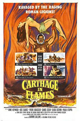 CARTHAGE IN FLAMES roman LEGIONS movie poster HEYWOOD SUAREZ 24X36 Brand New. 24x36 inches. Will ship in a tube. Reproduction of aged original vintage art print. Great wall decor art print at a fracti