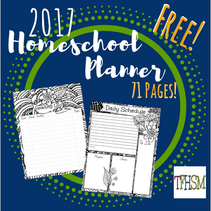 2017 Free Homeschool Planner from The Frugal Homeschooling Mom TFHSM i