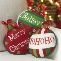 ornament shaped Christmas pillows
