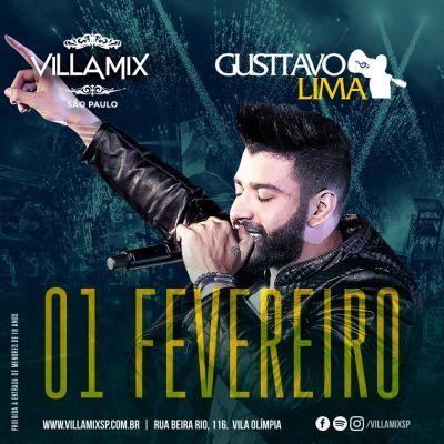 Gusttavo Lima ao vivo no Villa Mix Informações adicionais no link: http://www.baladassp.com.br/balada-sp-evento/Villa-Mix/921 WhatsApp: 11 95167-4133