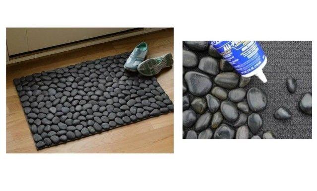 Imagem do dia: tapete feito com pedras de rio