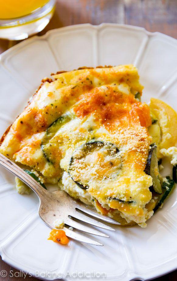 110 Calorie Crustless Veggie Quiche.