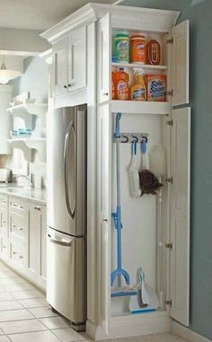 I like the idea of having a specific area for cleaning supplies, other than under the sink.