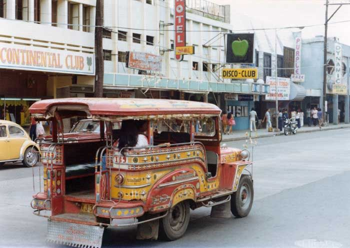 One Of The Famous Jeepneys Or Was It Jeepnies In Olongapo City Philippines
