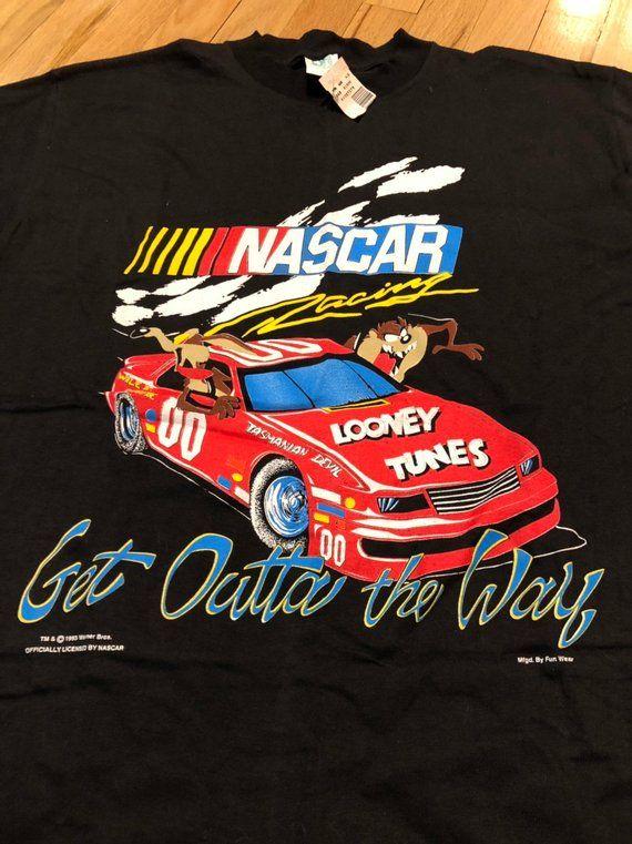 Nos Vintage Nascar X Looney Tunes 90 S T Shirt Mens Large In 2020 Nascar T Shirts Nascar Mens Shirts