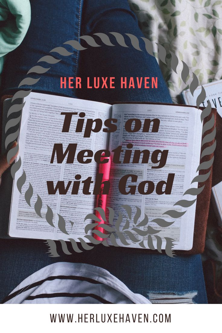 Meeting with God is easier than you think! I'll show you in this post