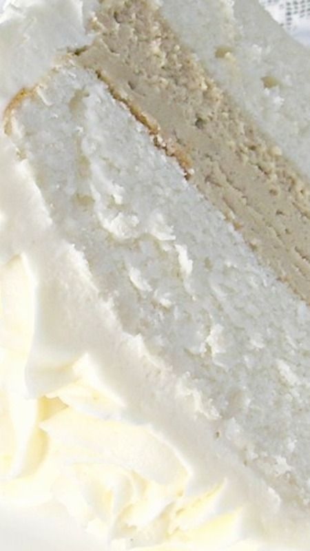 White Almond Wedding Cake ~  so moist, dense, and delicious