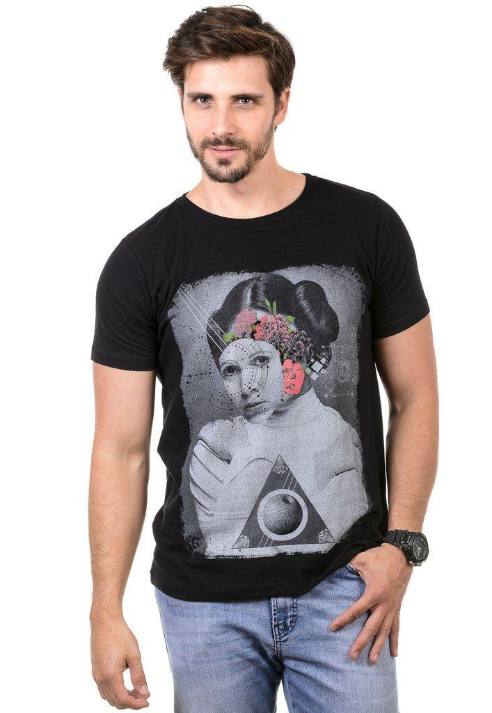 Camiseta Masculina Princess Leia