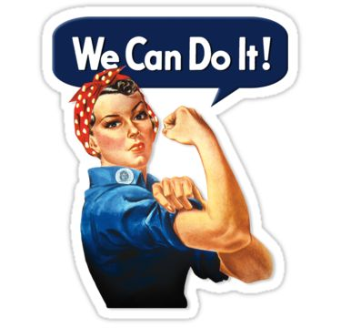 """""""Rosie the riveter"""" Stickers by monica90 